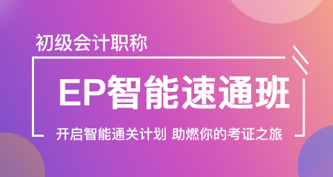 2019年初级会计职称EP智能班